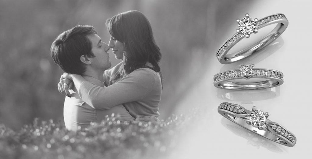 Anel de ouro branco e diamante: tradição e compromisso