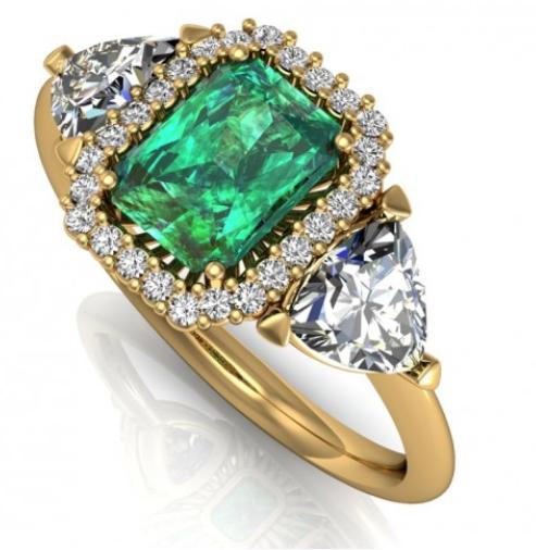 bodas de esmeralda - anel imperial