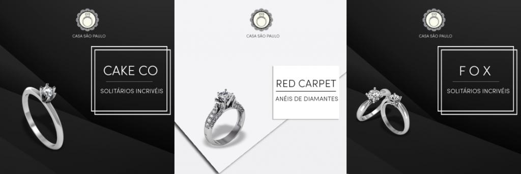 3 Anéis de Noivado em ouro branco para você acertar no pedido