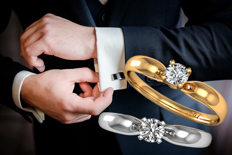 Para ele: Porque fazer o pedido com um anel de noivado?