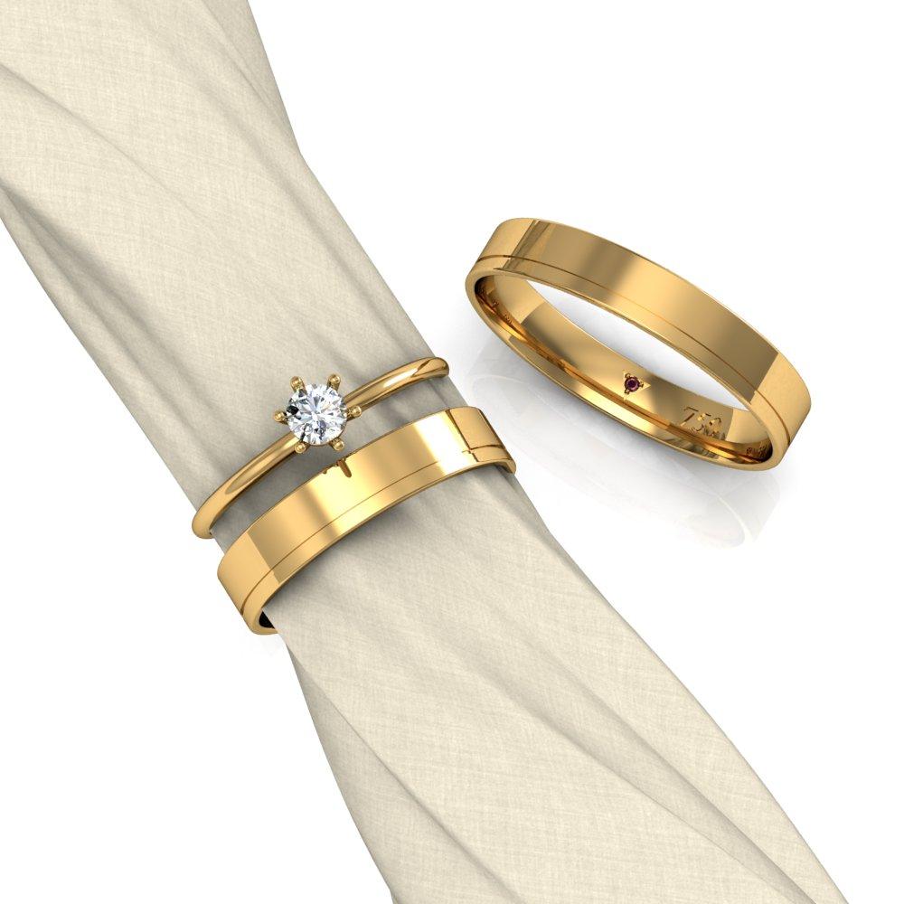 Escolha a aliança de casamento ideal para você