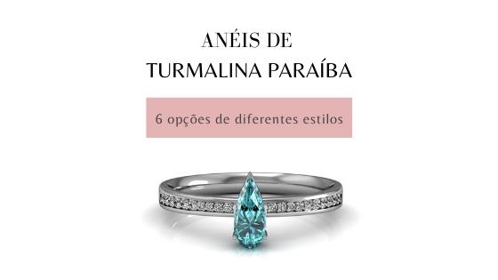 Anéis de turmalina paraíba: 6 opções de diferentes estilos